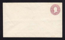 U34 UPSS # 71-0 3c Pink on White, NO Watermark, Mint Entire, couple stains