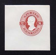UO29 30c Dark Red on White, Mint Full Corner, 50 x 50