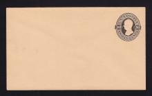 U207 UPSS # 619 30c Black on Oriental Buff, Mint Entire, Light paper clip mark UL