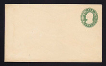 U13 UPSS # 21 6c Green on White, Mint Entire, light stain at left