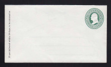 U82 UPSS # 167 3c Green on White, Mint Entire, GR