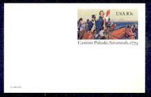UX79 UPSS# S98 10c Casimir Pulaski Mint Postal Card