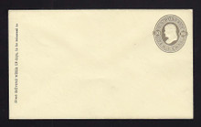 U90 UPSS # 226a 10c Olive-Grey on Amber, Mint Entire, GR