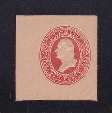 U249 2c Red on Fawn, Mint Full Corner, 41 x 42