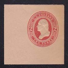 U239 2c Red on Fawn, Mint Full Corner, 50 x 50