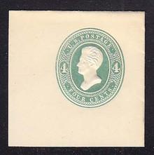 U250 4c Green on White, die 1, Mint Full Corner, 50 x 50