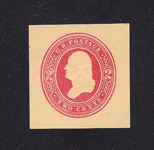 W287 2c Red on Manila, die 1, Mint Cut Square, 36 x 37