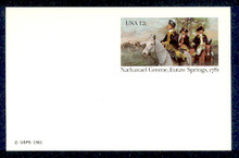 UX90 UPSS# S107 12c Eutaw Springs Mint Postal Card