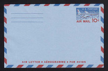 UC32a, UPSS #ALS-5 10c Jetliner, 3-Lines on back, Mint, FOLDED