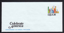 UC59, UPSS #ALS-25 36c Celebrate America, Mint, FOLDED