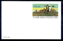 UX95 UPSS# S112 13c La Salle Mint Postal Card