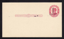 UX24 Mint Postal Card with Favor 1920 1/CENT Surcharge