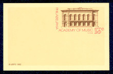 UX96 UPSS# S113 13c Music Academy Mint Postal Card