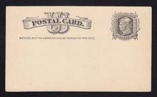 "UX7 UPSS# S6y 1c Liberty Head, Nail Hole Under ""P"", Mint Postal Card"