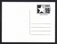 CVUX3, UPSS #PB3a2 19c Postal Buddy, Type C Backside, Mint Postal Card