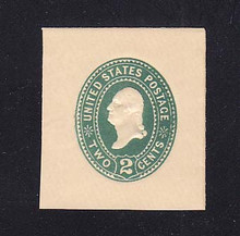 U305 2c Green on White, die 1, Mint Full Corner, 40 x 43