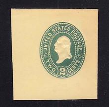 U306 2c Green on Amber, die 1, Mint Full Corner, 45 x 48