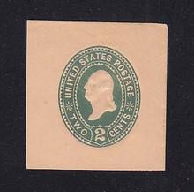 U307 2c Green on Oriental Buff, die 1, Mint Cut Square, 41 x 44
