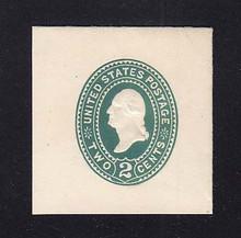 U318 2c Green on White, die 3, Mint Full Corner, 43 x 45
