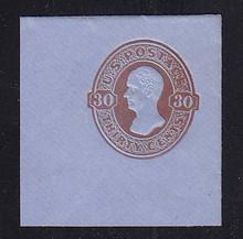 U339 30c Red Brown on Blue, Mint Full Corner, 47 x 50