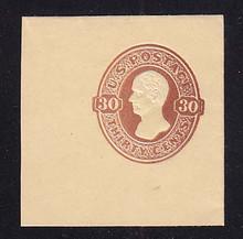 U340 30c Red Brown on Manila, Mint Full Corner, 50 x 48