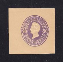 U346 90c Purple on Manila, Mint Cut Square, 42 x 41