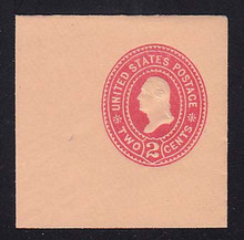 U369 2c Carmine on Oriental Buff, die 3, Mint Full Corner, 50 x 50