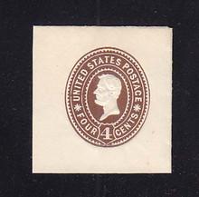 U371 4c Brown on White, die 1, Mint Cut Square