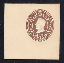 U374 4c Brown on White, die 3, Mint Full Corner 50 x 50