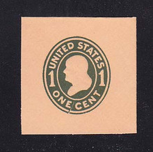 U402 1c Green on Oriental Buff, die 1, Mint Full Corner