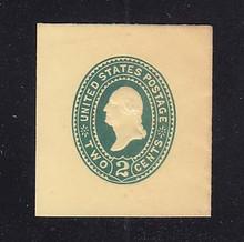U319 2c Green on Amber, die 3, Mint Full Corner, 42 x 45