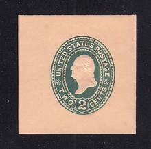 U320 2c Green on Oriental Buff, die 3, Mint Full Corner, 45 x 45