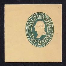 U323 2c Green on Amber Manila, die 3, Mint Full Corner, 50 x 50