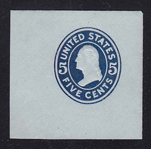 U418c 5c Blue on Blue (error), die 2, Mint Full Corner, 50 x 50