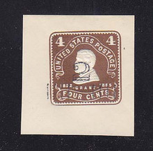 U462 2c on 4c Brown on White, Mint  Cut Square, 42 x 45, PF Certificate