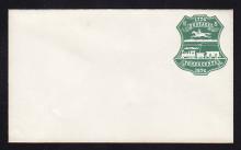 U221 UPSS # 646-3 3c Green on White, die 2, Mint Entire