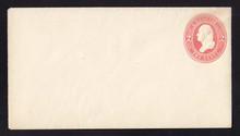 U231 UPSS # 665 2c Red on White, Mint Entire