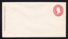 U231 UPSS # 669 2c Red on White, Mint Entire, GR