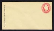 U232 UPSS # 670 2c Red on Amber, Mint Entire, GR
