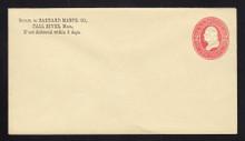 U232 UPSS # 673 2c Red on Amber, Mint Entire