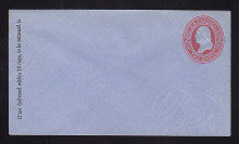 U233 UPSS # 674-6 2c Red on Blue, Mint Entire, GR
