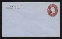 U262 UPSS # 694 2c Brown on Blue, Mint Entire, CC