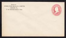 U236 UPSS # 707 2c Red on White, Mint Entire, CC
