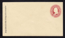 U237 UPSS # 708a 2c Claret on Amber, Mint Entire, GR