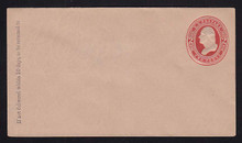 U239 UPSS # 716 2c Red on Fawn, Mint Entire, GR