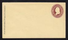 U278 UPSS # 802-6 2c Brown on Amber, die 1, Mint Entire, GR