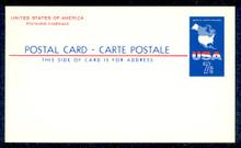 UX49 UPSS# S67 7c USA Map Mint Postal Card