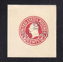U466A 2c on 2c Carmine on White, die 1, Mint Full Corner, 45 x 47, PF Certificate