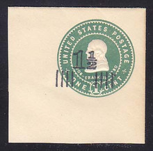 U508A 1 1/2c on 1 Green on White, Mint Full Corner, 50 x 50