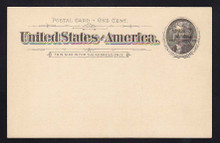 UX12 UPSS# S14Sp-1 1c Black Thomas Jefferson, Overprinted Universal Postal Congress